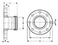 MegaPress-CuNi-Adapter-Flange-P---Model-0559-3XL_dim